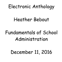 Heather Bebout - Fundamentals of School Administration