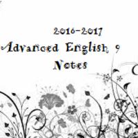 Advanced English 9 Notebook