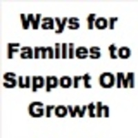 Ways for Families to Support O&M Growth