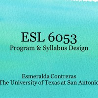 ESL 6053: Program & Syllabus Design