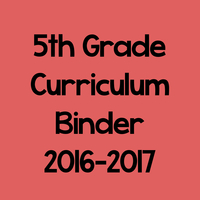 5th Grade Curriculum Binder