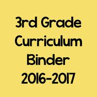 3rd Grade Curriculum Binder