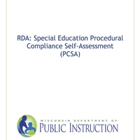Wisconsin RDA: Special Education Procedural Compliance Self-Asse