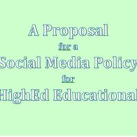 Social Media Policy Proposal