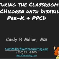 Structuring the Classroom for Young Children with Disabilities: