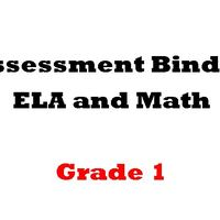 Grade 1  ELA  and Math Assessment Binder