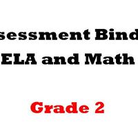 Grade 2  ELA  and Math Assessment Binder