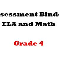 Grade 4 ELA  and Math Assessment Binder