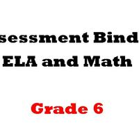 Grade 6 ELA  and Math Assessment Binder