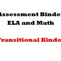 Grade TK  ELA  and Math Assessment Binder