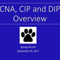 CNA and CIP Overview Spring Hill ISD