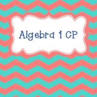 Algebra 1 CP 2017-2018 S1