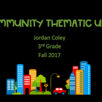 Third Grade Community Thematic Unit