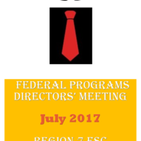 July 2017 Federal Programs Directors' Meeting