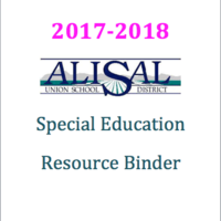 AUSD Special Education Resource Binder 2017 - 2018
