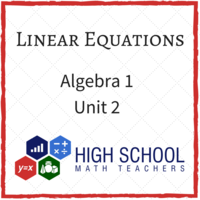 Common Core Algebra 1 Unit 2 Linear Functions