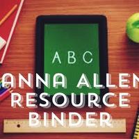 Alanna Allen's Resource Binder