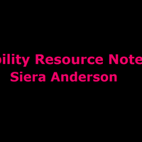 Disability Resource Notebook