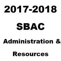 2018-2019 SBAC Resources