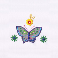 Beautifully Detailed Butterfly Applique Embroidery Design