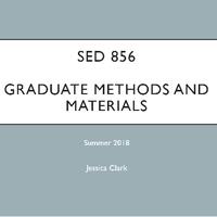 SED 856 Graduate Methods
