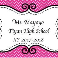 Ms. Mayoyo SY17-18 THS