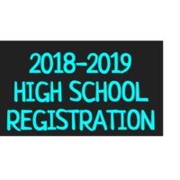 High School Registration 2018-2019