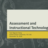 Assessment and Instructional Technology Digital Portfolio