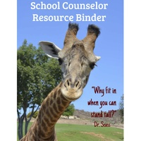 School Counselor Resource Binder