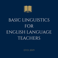 Basic Linguistics for English Language Learners
