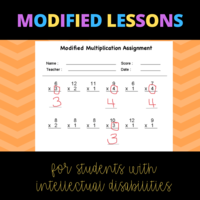 Modified Lessons for Students with Disabilities