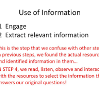 Big 6: Task #4 Use of Information