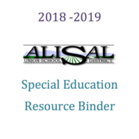 AUSD Special Education Resource Binder 2018 - 2019