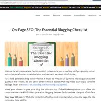 SEO: The Essential Blogging Checklist