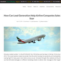 How Can Lead Generation Help Airline Companies Sales Soar