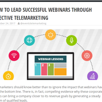 HOW TO LEAD SUCCESSFUL WEBINARS THROUGH EFFECTIVE TELEMARKETING