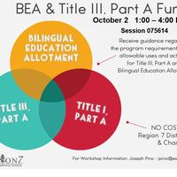 2019 BEA and Title III Funds