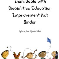 Individuals with Disabilities Education Improvement Act Binder
