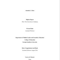 Amanda L. Glaze-Crampes External Review Portfolio