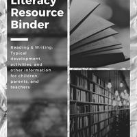 Literacy Resource Binder