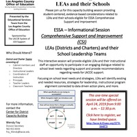 ESSA Informational Session for CSI Schools