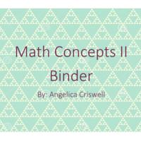 Math Concepts II