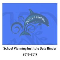 Dewey 2018-2019 School Planning Institute- Data Binder
