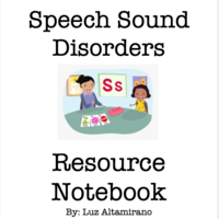 Speech Sound Disorders Resource Notebook