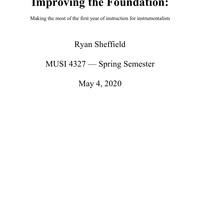 MUSI 4327: Instrumental Methods