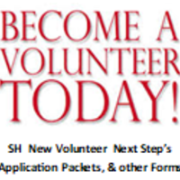 SH Volunteer, Intern & Groups Next Step's Application Packets