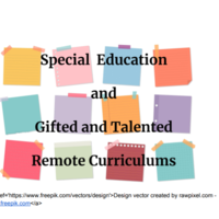 Free Special Education Remote Curricula