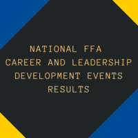 National FFA Development Events Results