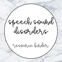 Speech Sound Disorders Resource Binder