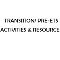 Pre-ETS Activities & Resources Provided by VR Staff